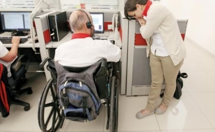 Career fair in Mexico for the disabled
