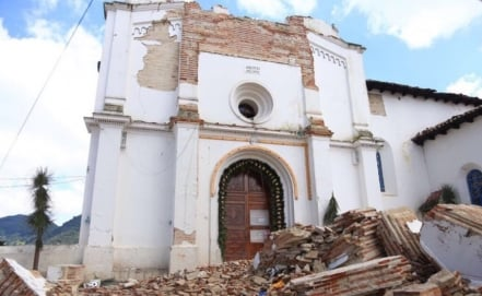 Chiapas and Oaxaca: Historical heritage damaged after the 8.2 quake