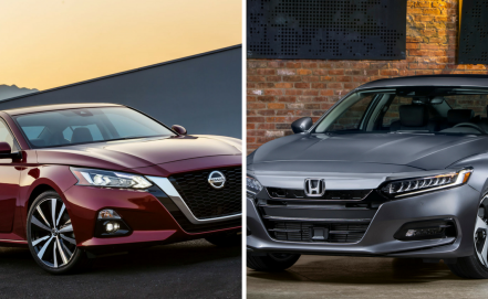Altima 2019 vs. Accord 2018: duelo de sedanes medianos