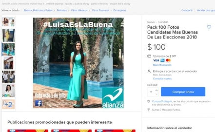 Ofertan en internet fotos y hasta video XXX de candidatas