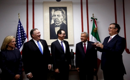 AMLO meets with U.S. officials to discuss trade and immigration
