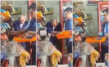 Employee of Bimbo and Marinela caught in possible robbery to grandfather in his shop
