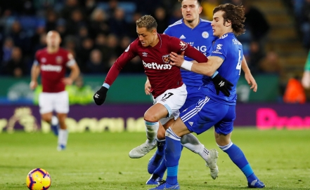 Regresa 'Chicharito' en empate del West Ham ante Leicester