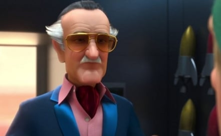 Personaje similar a Stan Lee en la pelícual Big Hero 6