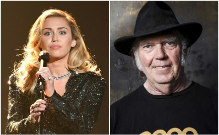 Neil Young y Miley Cyrus