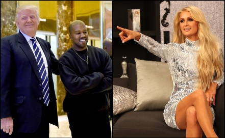 donald trump, kanye west, paris hilton, presidente de los estados unidos