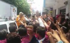 Video. Así recibieron a AMLO en Chilpancingo