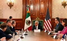 AMLO meets with US Congress members to discuss migration