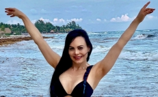 Maribel Guardia en bikini