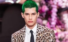 Mexican model makes his debut at Versace