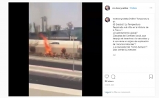Video del incendio de un arbusto