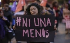 Feminists protest against gender violence in Mexico City