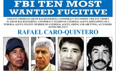 Rafael Caro Quintero, the Mexican drug lord named in the FBI's 10 Most Wanted list