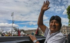 Raising funds for Evo Morales