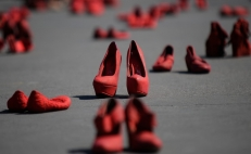 Red shoes: Mexican women protest against femicide and gender violence