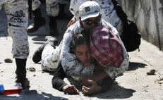 Mexico's National Guard stops Central American immigrants from entering the country