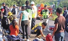 One migrant dead and 81 injured in road accident in southern Mexico