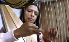 Young Mexican harpist wins international classical music award in NY