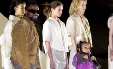 North West, hija de Kim y Kanye rapea en Paris Fashion Week