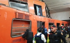 One dead and 41 wounded after two subway trains collide in Mexico City