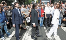 Todos quieren ser The Beatles en Abbey Road
