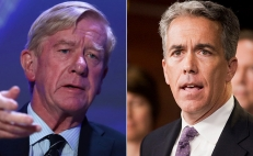 Bill Weld (izq.) y Joe Walsh
