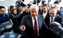 Businessmen in support of Mexico's President-elect AMLO