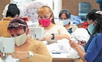 Mexican female inmates produce face masks for the COVID-19 pandemic