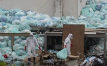 Medical waste piles up outside Mexico hospital treating patients with COVID-19