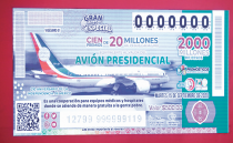 Pemex and the workers' union promote the presidential plane raffle and gift lottery tickets