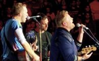 "James Corden ""se gradúa"" y canta en concierto de Coldplay"