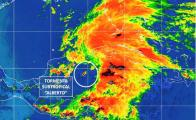 "Subtropical storm ""Alberto"" looms over the Atlantic Sea"