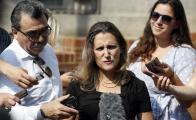 La ministra canadiense Chrystia Freeland
