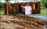 Mexican gardener builds home out of sargassum bricks