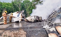 Airplane carrying cocaine crashed in Quintana Roo