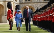 Donald Trump llega al castillo de Windsor