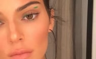 Kendall Jenner maquillaje verde