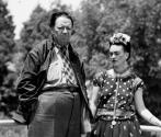 Frida Kahlo and Diego Rivera in Moscow
