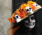 Mexico's Grande Dame of Death walkabout at Mexico City