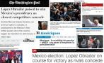 Reactions of the international press to Mexico's election result