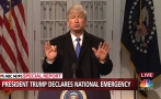 "Trump arremete contra ""Saturday Night Live"" por burla sobre declaratoria de emergencia"