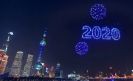 fuegos artificiales drones China 2020