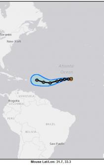 Hurricane Irma, now Category 2 storm, is heading to the Caribbean