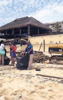 Clean-up of Los Cabos after Lidia