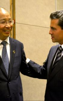 President Peña Nieto meets with the Chairman of Industrial and Commercial Bank of China