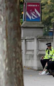 Incident outside Natural History Museum in London