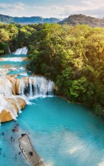Why are the Agua Azul waterfalls drying up?