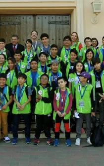 Mexican children learn about robotics in the U.S.