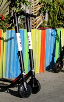 Startup company Bird launches electric scooters in Mexico City
