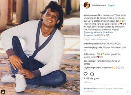 Mira al actor que interpretara a Luis Miguel de adolescente